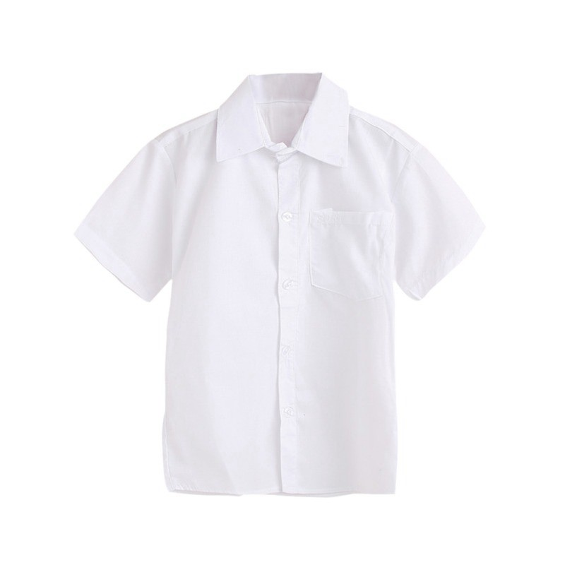 Kids' Boys Shirt Casual Boy Spring Solid Cotton White Shirt Children Clothes Boy Long Sleeve Tops Tees Blouse