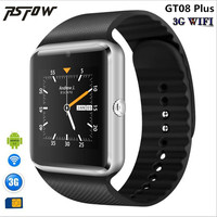 RsFow 3G Wifi QW08 Android Smart Watch GT08 Support Play Store Download APP Smart Clock With