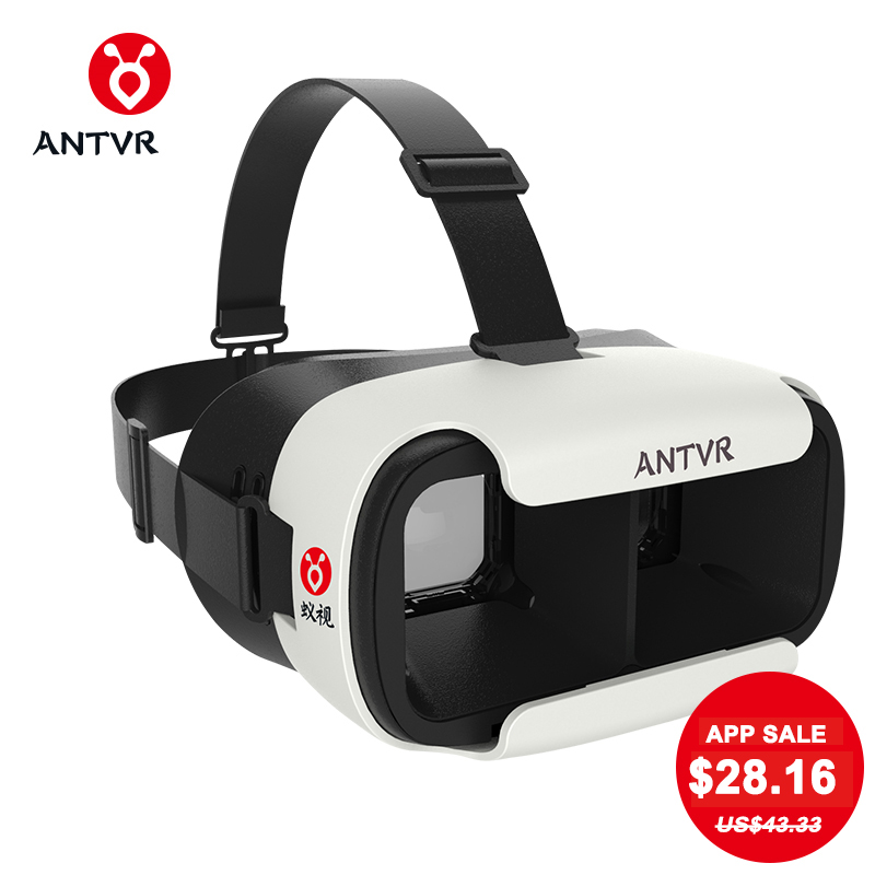 ANTVR Loop distortion free box 3D VR Glasses VR Helmet Headset Head mounted for 5 6 inch Android IOS iPhone Samsung Xiaomi Phone