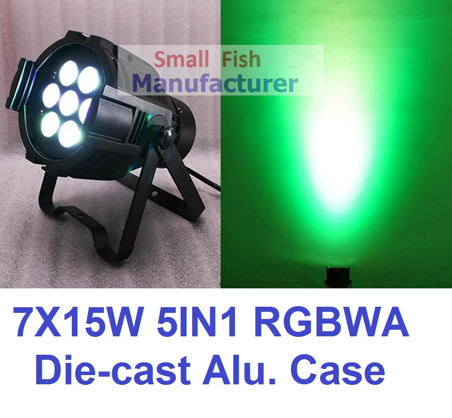 Eyourlife Par Led 7X15W RGBWA 5in1 DJ Stage Par Light DMX Disco Club Lighting Effect for Party Show Factory Price Fast Shipping mini rgb led party disco club dj light crystal magic ball effect stage lighting