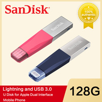 SanDisk Mini iXpand Lightning USB Flash Drive 16GB 32GB 64GB 128GB Pen Drive USB 3.0 PenDrive USB Stick for iPhone iPad Apple