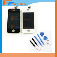 100 Guarantee Wholesale Price Lcd Display For IPhone 4 Display Completed Screen Replacement Black White With