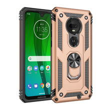 For Motorola Moto G7/G7 Plus Dual Layer Military Armor Case Magnetic Ring Stand Slim Shockproof Hard Cover For G7/G7 Plus case цена
