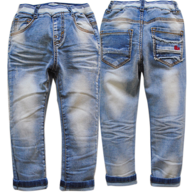 4004 тонкий регулярный мальчики джинсы мальчик джинсовые брюки случайные голубой ребенок trsousers детская одежда способа малышей мягкий новый эластичный