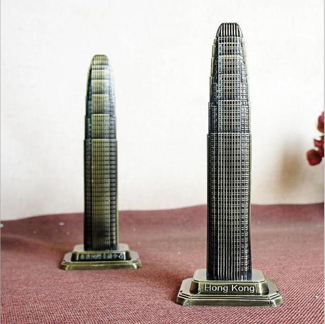 World Architecture Model Hong Kong Financial International Center Decoration Creative Home Decoration Tourism Souvenirs 3