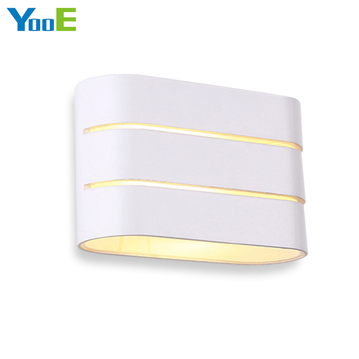 YooE Indoor LED Wall Lamp 3W AC110V/220V Fashion Aluminum Wall Sconce Lighting bedroom Warm White Decorate LED Wall Lights 3 narrow beam indoor wall effect light led architectural facade lighting 3 emission led wall sconce ac90 260v input decoration