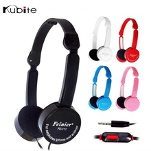 Kubite Foldable Portable Headphone Travel Wired Game Headset 3.5mm Earphone With Mic Wire Control For Phone Children Kid MP3 MP4