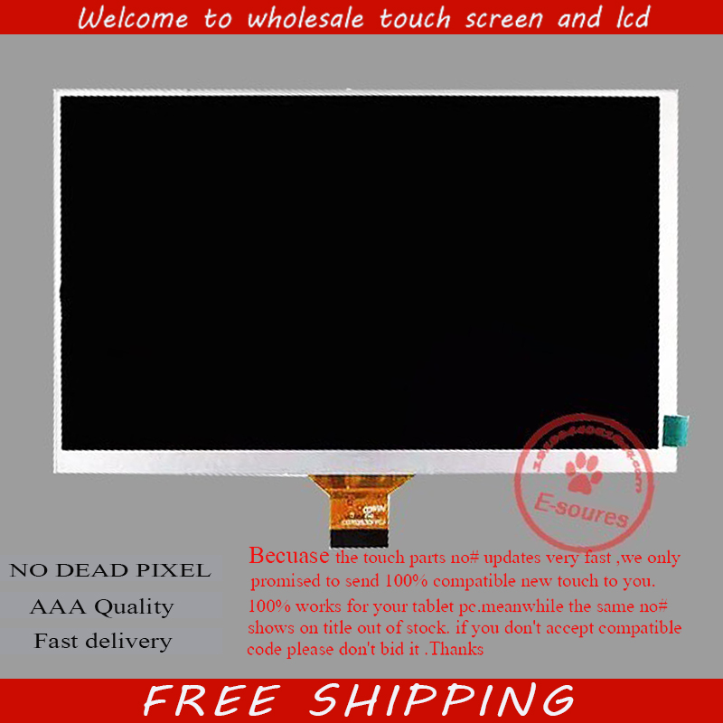 New LCD display matrix For 7 Oysters T74MRI 3G Tablet inner LCD Screen Panel Module Replacement Free Shipping new lcd display matrix for 7 roverpad sky s7 3g tablet inner lcd screen 1024x600 screen panel module replacement free shipping