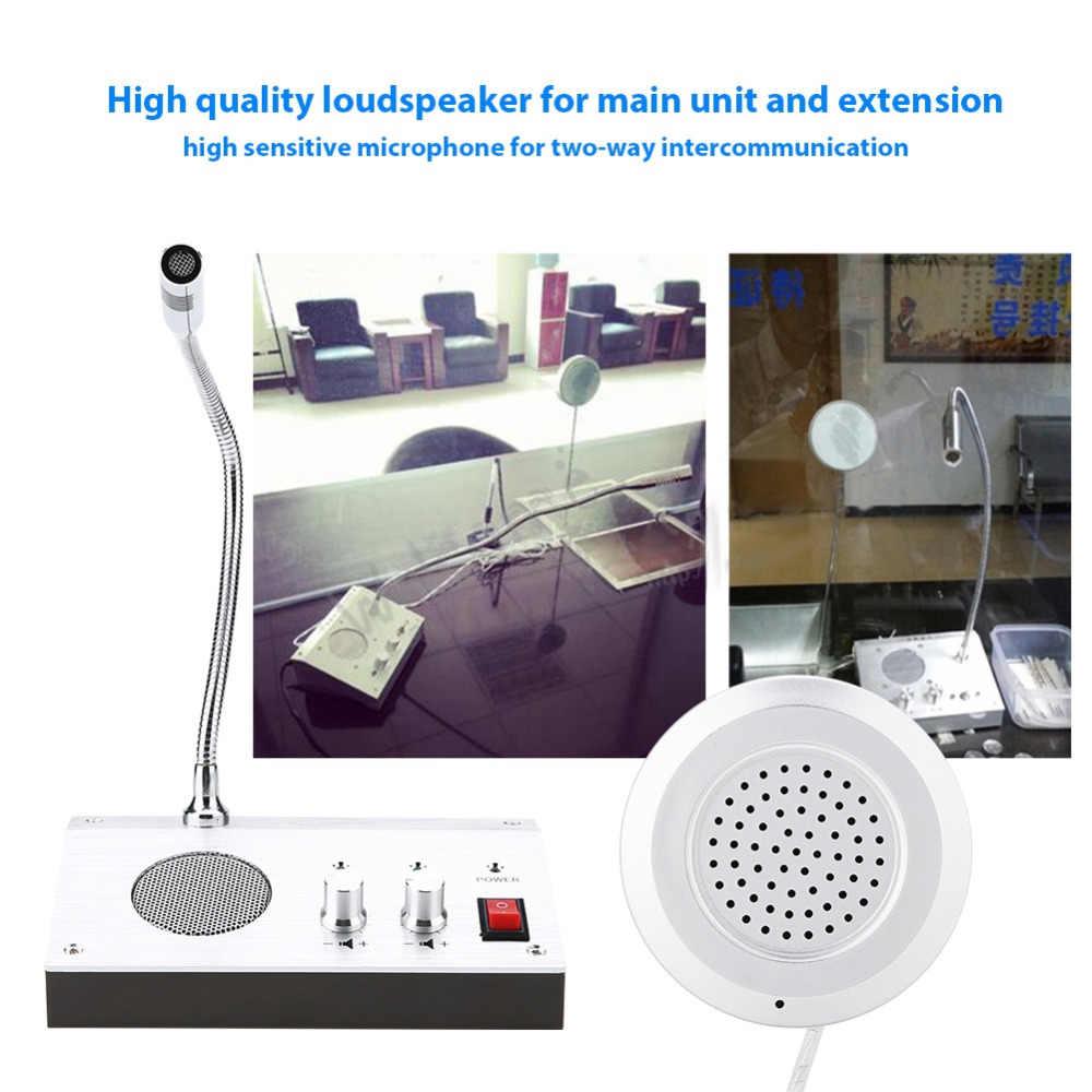 240 В-100 в двухполосный голосовой микрофон динамик домофон оконный счетчик Interphone для охранной компании США
