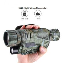 High Quality 5x40 Night Vision Monocular Digital IR Recorder 200m Range Photo Video Recording Free 8GB DVR for Hunting Security