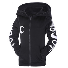 Woman Hoodies Sweatshirts Ladies Letter Print Classics Autumn Winter Clothing Shirts Moon Witches Halloween