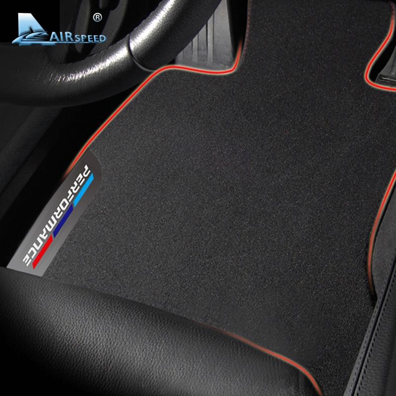 Airspeed Car Floor Mats for BMW 5 Series E60 G30 Car Floor Carpets Covers Foot Mats Pads Interior Car Accessories Car Styling new car floor mats covers free shipping 5d for bmw 320 323 325 car styling