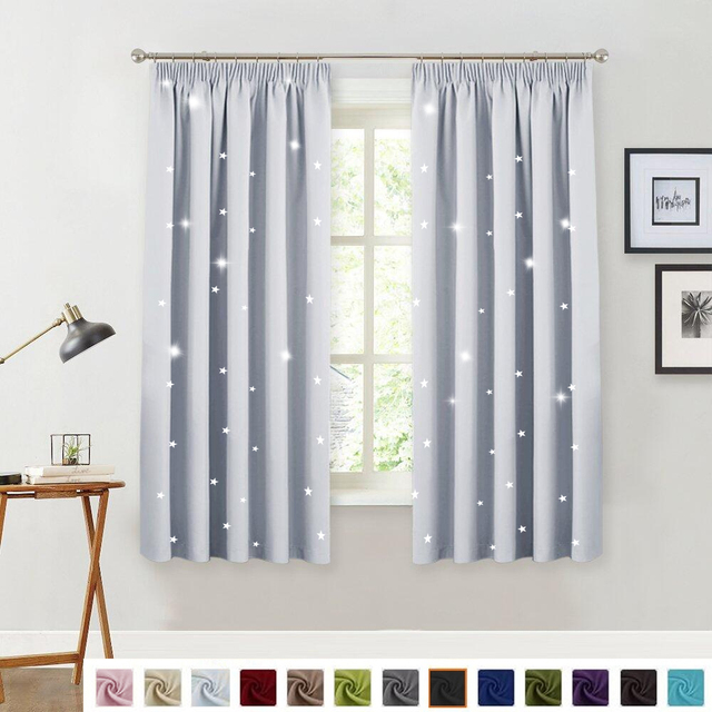 Nicetown Starry Night Sleep Enhancing Cosmic Le Blinds Nursery Blackout D Cloth Baby Room