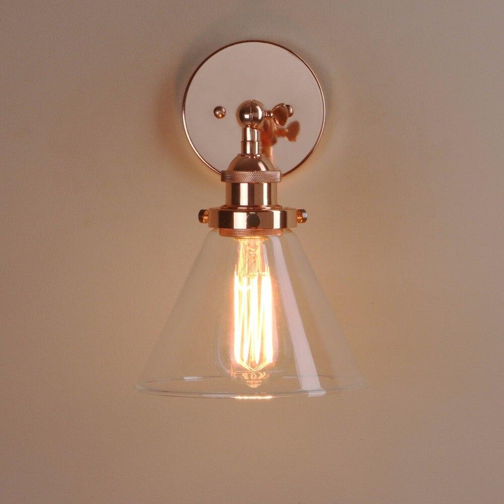 Permotriassischen Moderne metall wand lampe Antike Trichter Glas ...