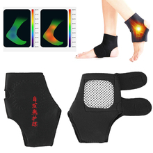 1Pair Adjustable Protection Belt Spontaneous Magnetic Therapy Self-heating Ankle Support
