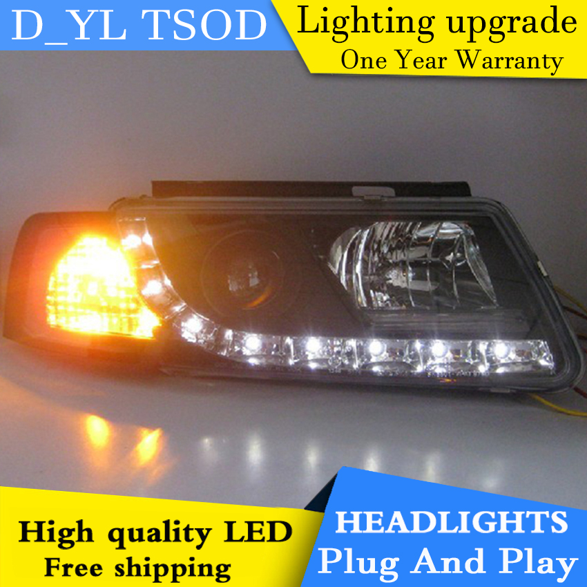 D YL Car Styling for VW Passat Headlights 1998 2005 Passat LED Headlight DRL Bi Xenon