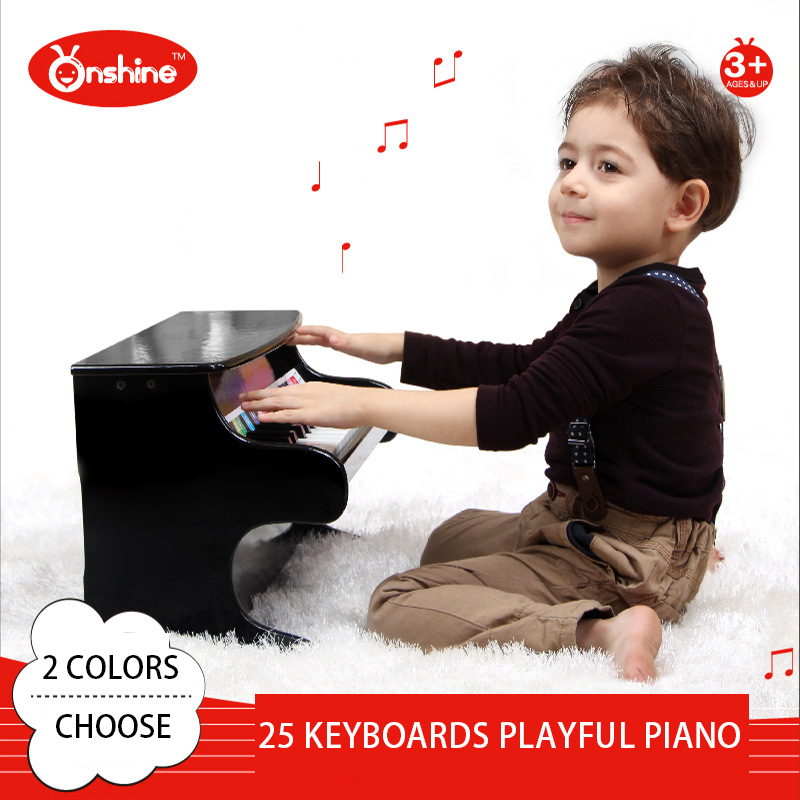 25 keyboards Piano Music Toy Baby Toy Wooden playful Piano Musical Toys Instrument for Children Kids Educational Electric Toy wooden music child toy musical instrument set 11 piece per set toy musical instruments set