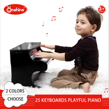 25 keyboards Piano Music Toy Baby Toy Wooden playful Piano Musical Toys Instrument for Children Kids Educational Electric Toy