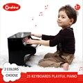 25 teclados juguetón de Piano Piano de Juguete de la Música del Juguete Del Bebé De Madera Juguetes Musicales Del Instrumento para Niños Kids Educational Juguete Eléctrico