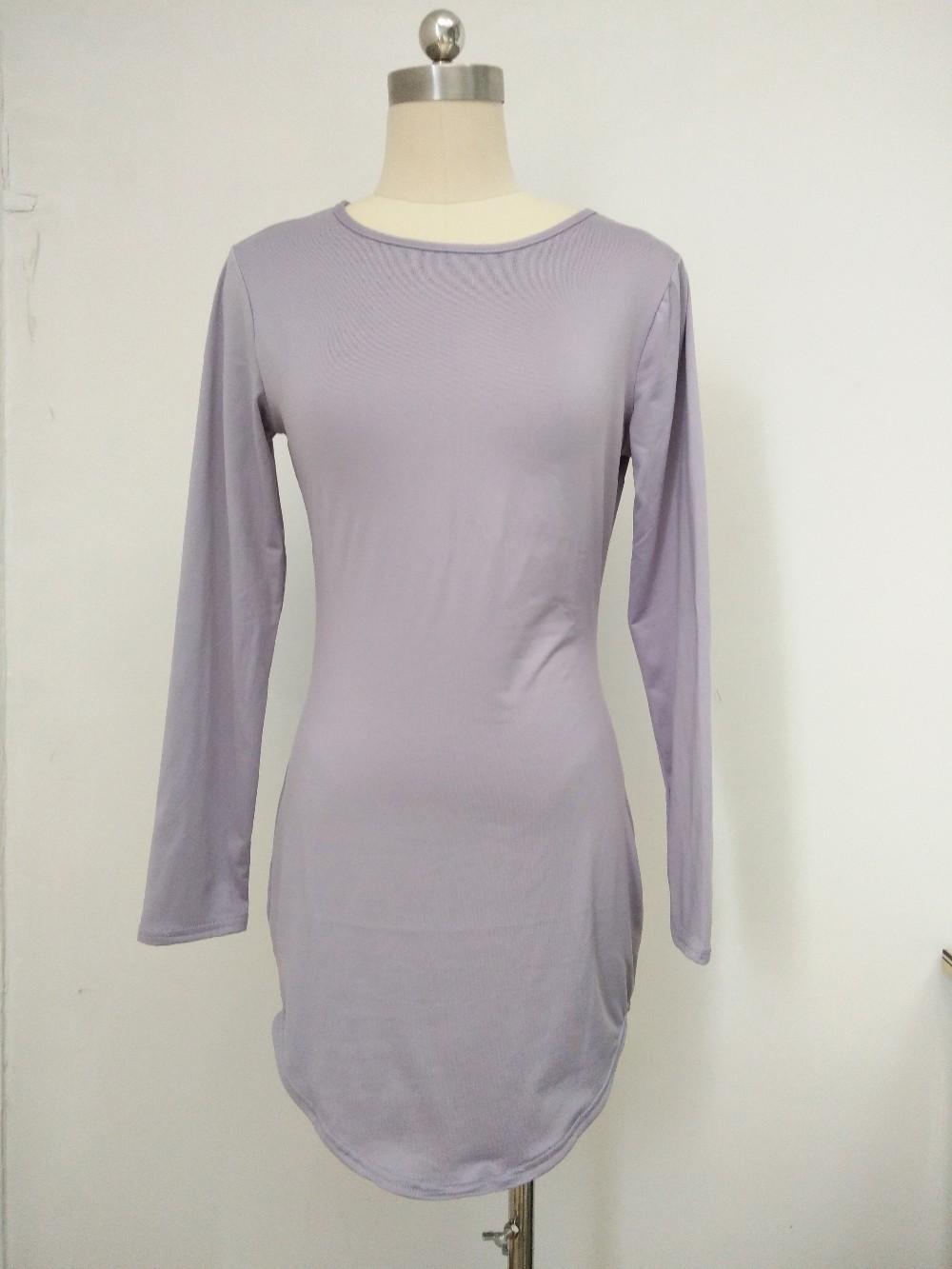HTB1rXUdMVXXXXXzXXXXq6xXFXXXJ - Long Sleeve Mini Bodycon Split Tshirt Bandage Dresses JKP208