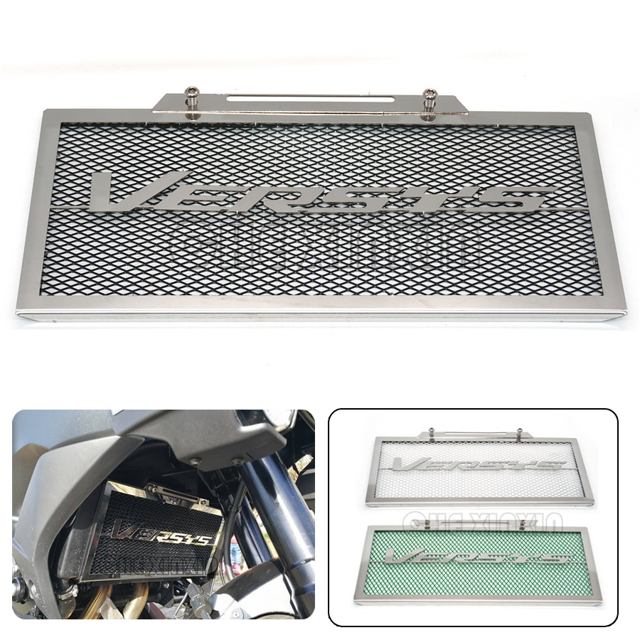 Motorcycle Engine Radiator Grille Guard Cover Protector Fuel Tank Cover Protector Black For Kawasaki VERSYS 650
