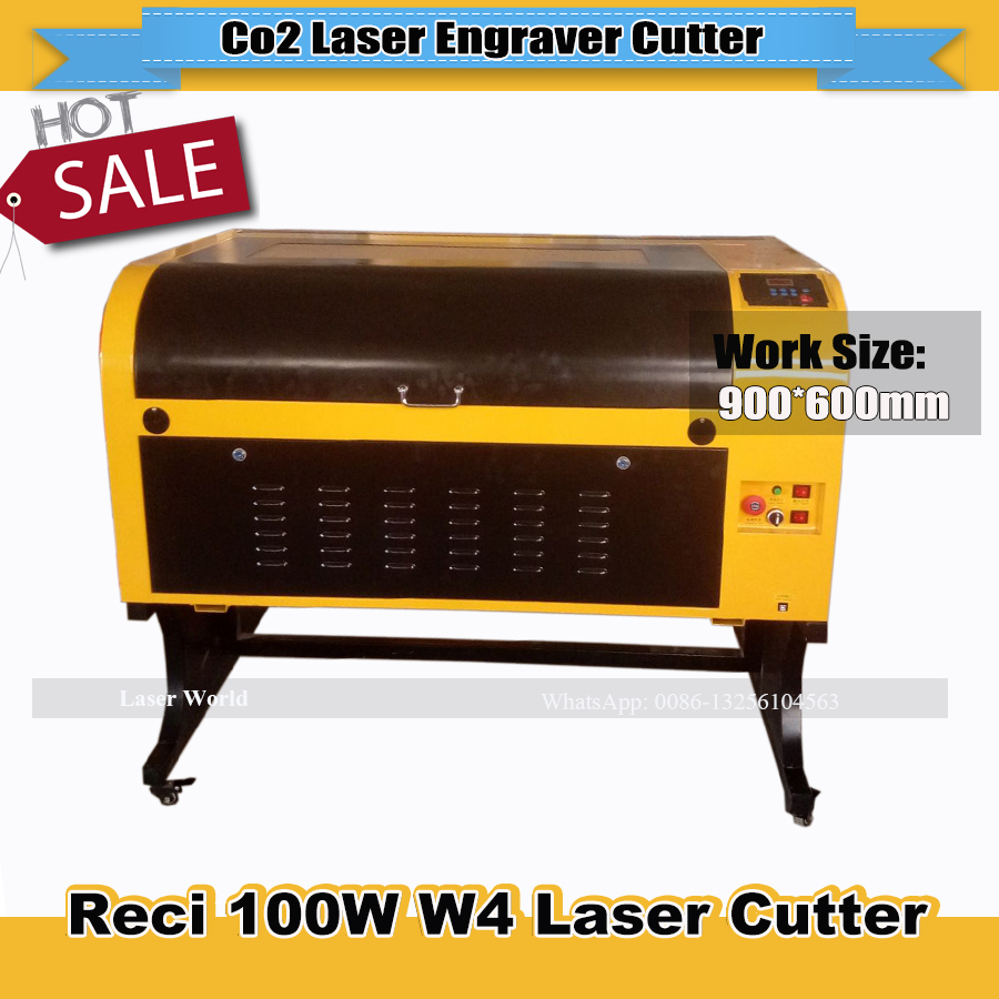 Laser Cutter 6090 Reci 100w W4 Co2 Laser Cutting Machine For Cloth/lether/plywood/acrylic/plastic/wood 110V/220V
