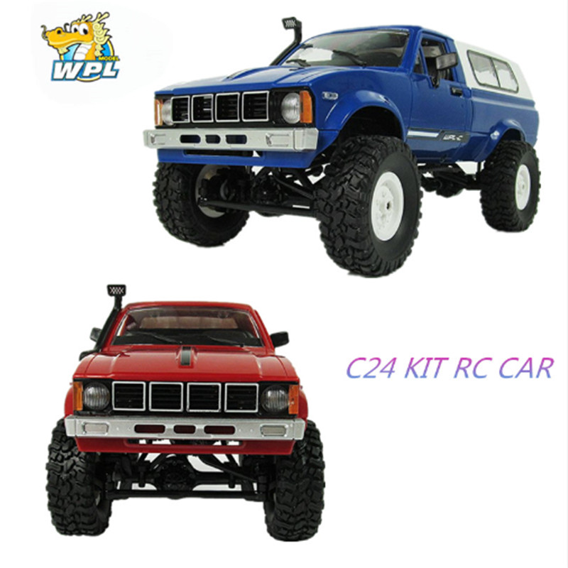 WPL C-24 Jeep 4WD RC CAR Remote Control Toy 1:16 Model Car 2.4G OFF-Road RC High Speed Truck KIT Car for Child DIY Car
