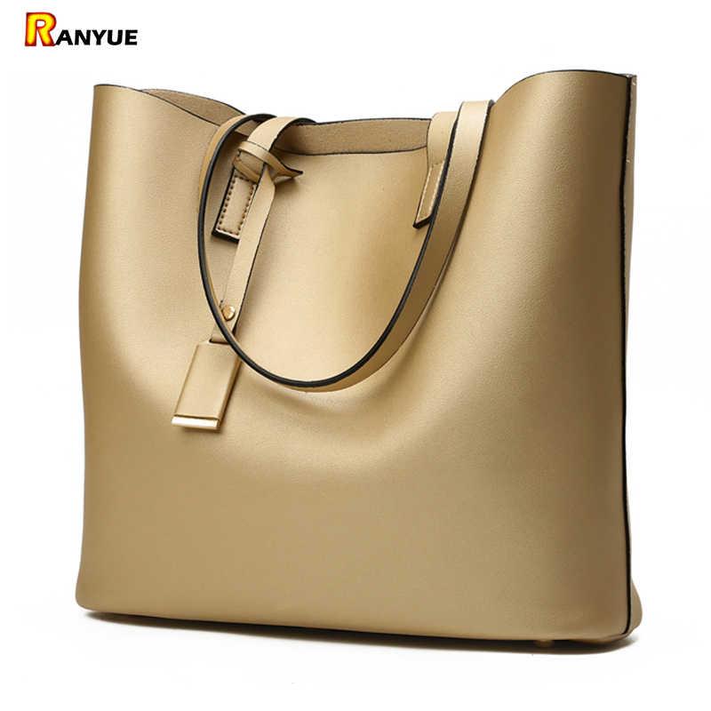 Роскошные сумки женские сумки Дизайнерские высокого качества кожаные женские сумки черные Большие однотонные женские сумки на плечо большой емкости Сумка-тоут