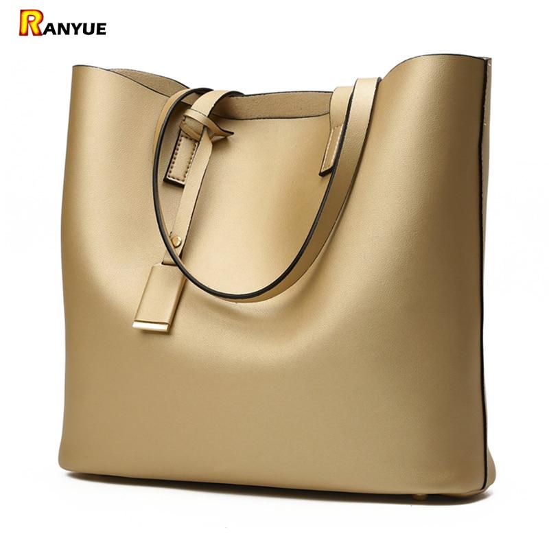 Luksuzne torbe Ženske torbe dizajner visoke kvalitete koža žene torba crna velika čvrste žene ramena torbe veliki kapacitet torba