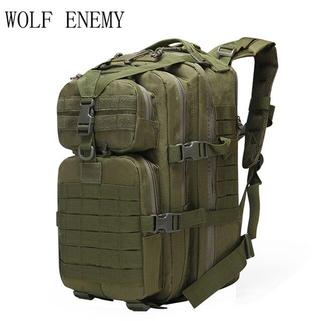 Pacote de Assalto Tático Militar Do Exército Mochila 40L 3D Bug o Saco Mochila Pequena À Prova D' Água para Caminhadas Ao Ar Livre Camping Caça