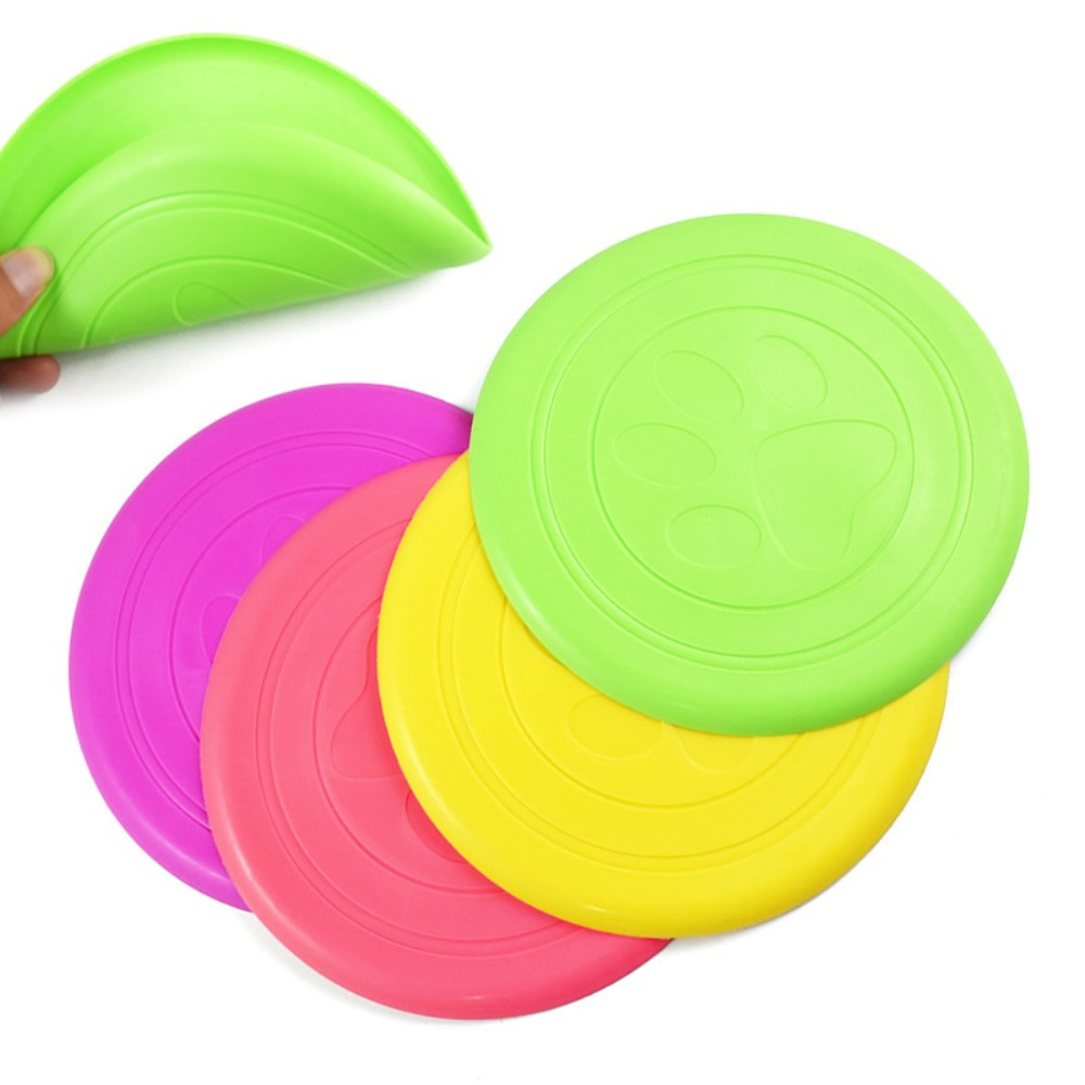 Silica Gel Pet Dog Toy For Dogs Outdoor Playing Toys Chew Training Flying Discs For All Animals Pet Supplies