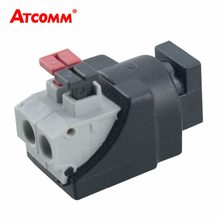 DC Female Male Jack Connector Plug Tool-free installation Adapter Terminals Apply to 5050 3528 3014 LED Strip Light CCTV Camera(China)