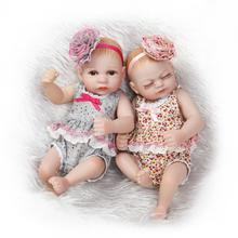 26CM Mini Size Fashion Twins Doll 10″ Full Body Bathed Baby Princess Girl Dolls Baby Alive Dolls in Flower Dress Baby Girl Toys