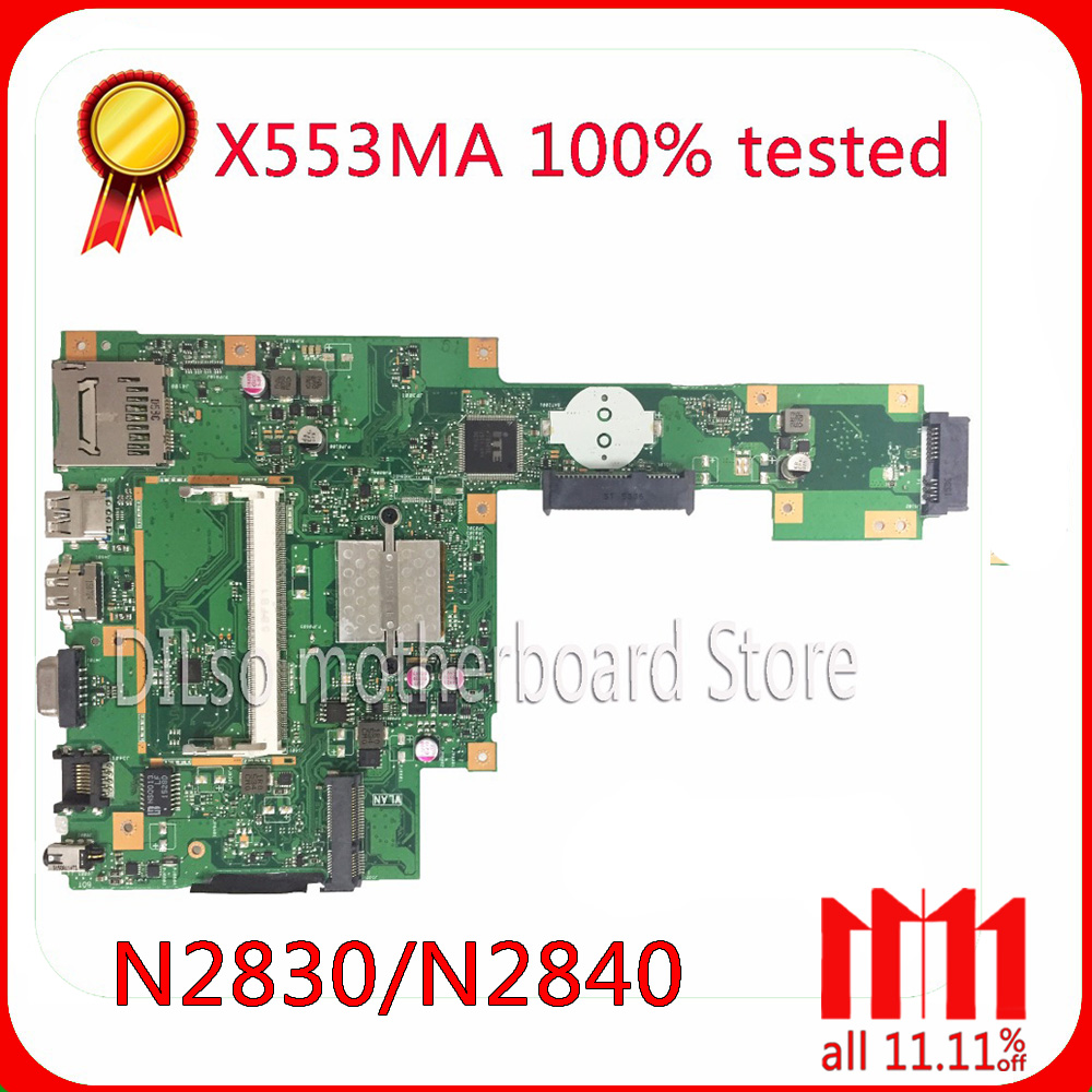KEFU X553MA For ASUS X553MA x503m f553ma f553m Laptop motherboard X553MA mainboard REV2.0 N2840U/N2830U work 100%