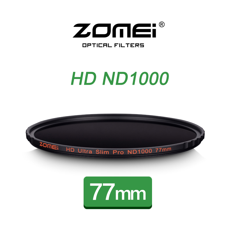 ZOMEI HD MC ND1000 77mm Ultra-thin Neutral Density Gray Filter 10 Dimmer Decreas Light  For Nikon Canon 70-200mm 24-70mm Lens zomei pro 100mm nd1000 nd3 0 square filter 100x100mm neutral density 10 stop optical glass full gray mc hd nd filter for cokin z