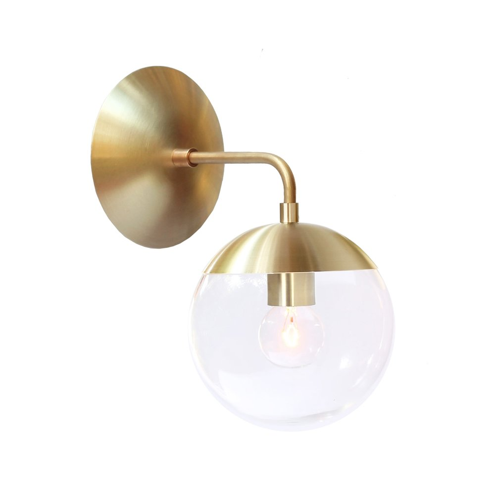 Nordic Copper Modern LED Wall Lamp Home Indoor Lighting Bathroom Mirror Light Glass Ball Wall Lights Fixtures Arandela все цены