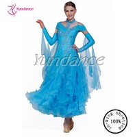 B 09243 competition blue ballroom dress waltz