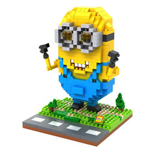 LOZ 9608 Despicable Me Series Minions Cosplay Modern Man Education Diamond Bricks  Building Block Minifigure Toys Gift