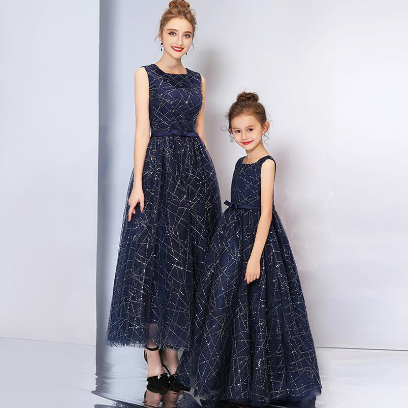 Baby Mother Daughter Dresses High end Elegant Luxury Wedding Party Dress Mom and Girls Mommy babies