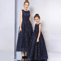 Baby Mother Daughter Dresses High end Elegant Luxury Wedding Party Dress Mom and Girls Mommy babies clothing Costume Y742