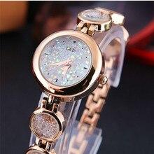 Exquisition Watches Quartz Luxury Watch Fashion Waterproof Wrist WatchesRose Gold Watch Rhinestone Women Chronograph цена и фото