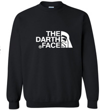 New Men's The darth face long sleeve T shirt Slim skateboard Street Cotton Top Casual Hooded sweater