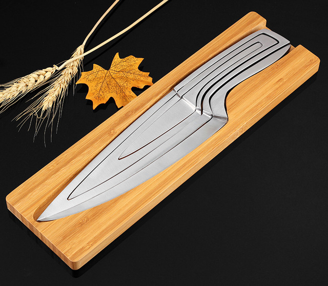 XITUO Knife Set 4 pcs Stainless steel portable chef knife Filleting Paring Santoku Slicing Steak Utility Kitchen Cleaver Knives