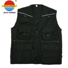 45ad1ec2368 En las ventas barato funcional multi bolsillos mens trabajo negro chaleco (China)