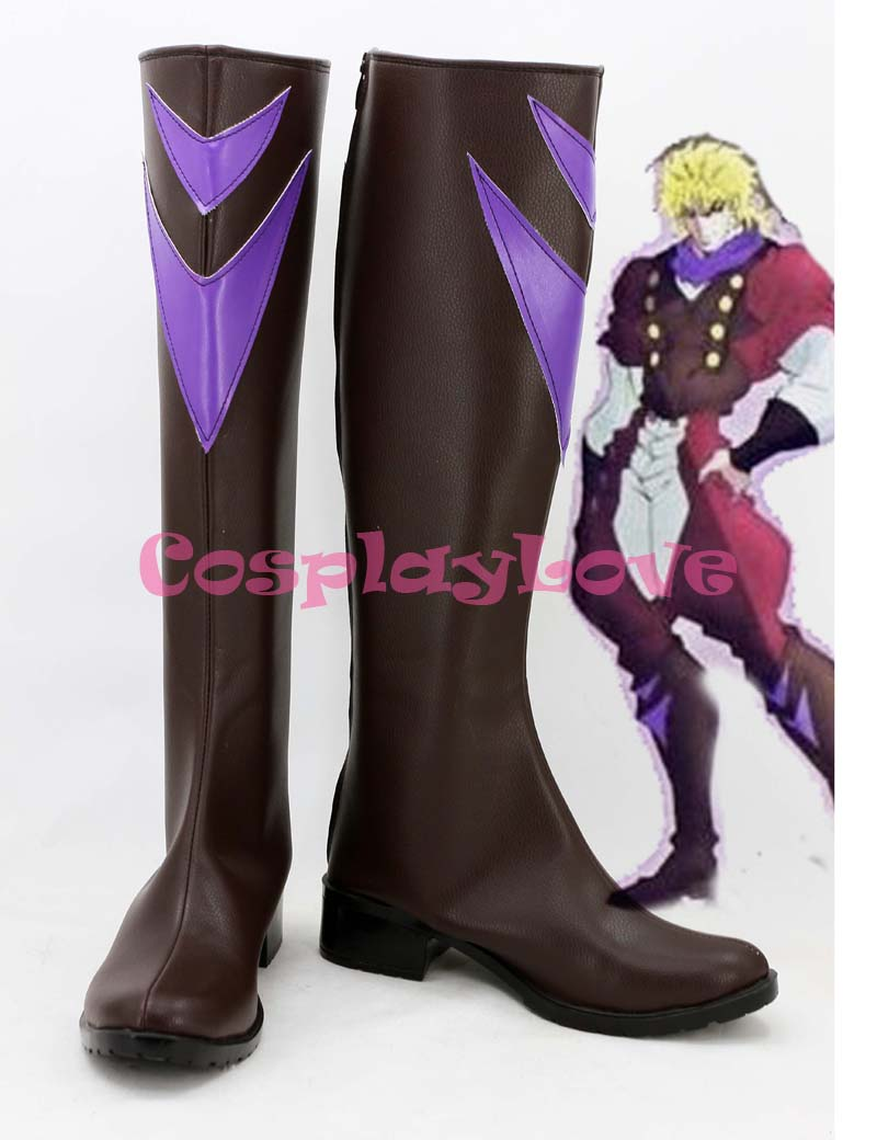 Newest Custom Made Japanese Anime JoJo\'s Bizarre Adventure Dio Brando Cosplay Shoes Long Boots For Christmas Halloween Festival-in Shoes from Novelty ...