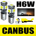 4Pcs/Lot BAX9s H6W 434 CANBUS ERROR FREE WHITE 5 LED SIDELIGHT BULBS/No Error Parking Light