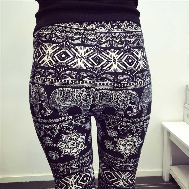 BIVIGAOS Spring Summer Womens Fashion Black Milk Thin Stretch leggings Colored Stars Graffiti Slim Skinny Leggings Pants Female 54