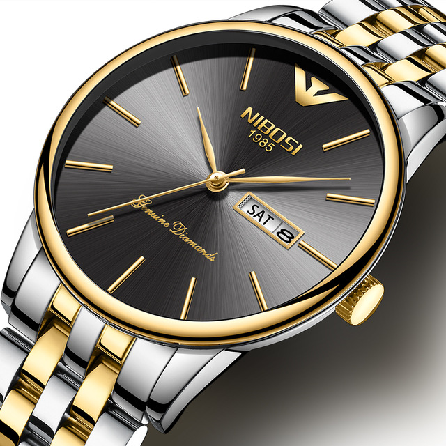 Gold Watches Brand Luxury Fashion Quartz Watch Men Full Steel Waterproof Sport Watch Clock Relogio Masculino