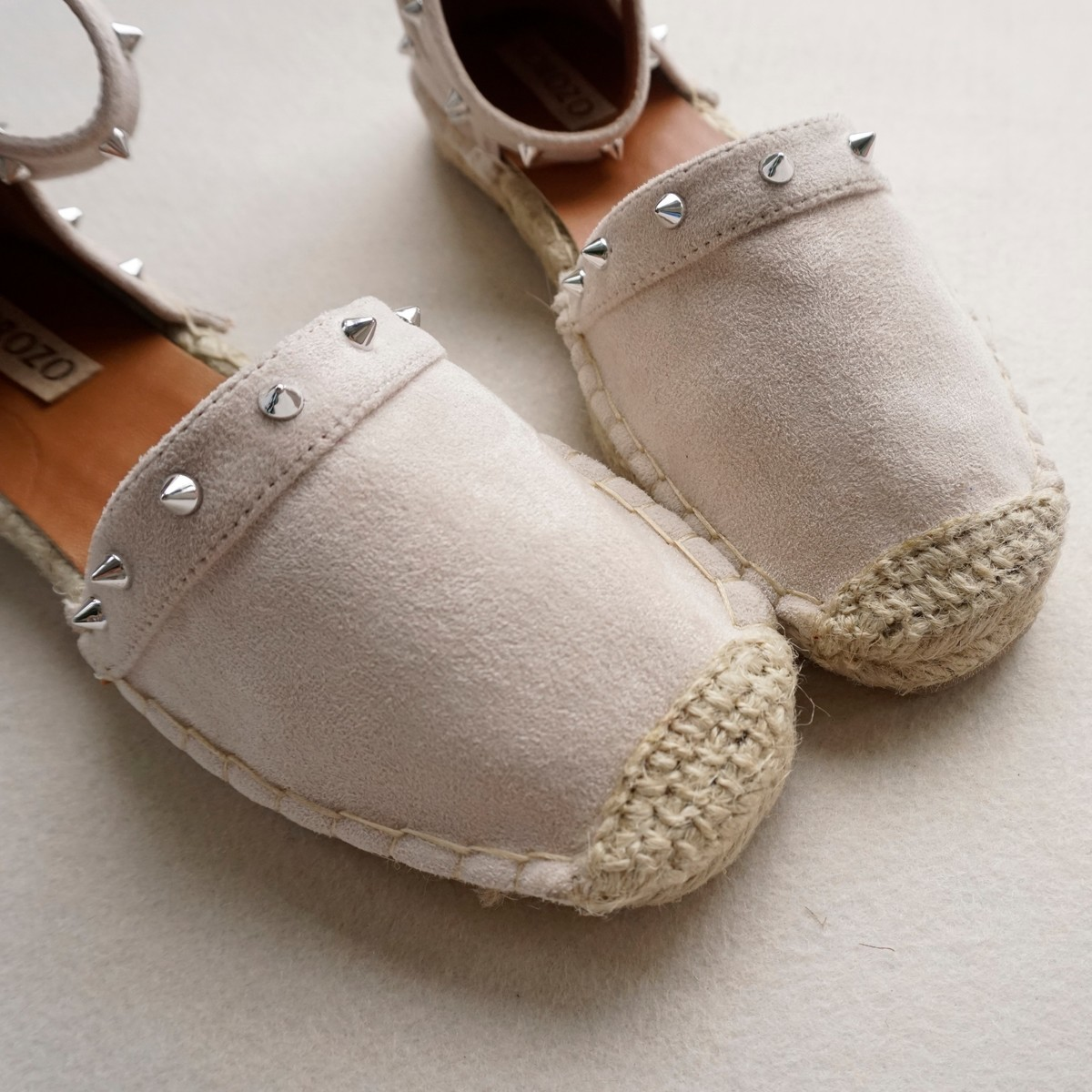 Flat heel sandals images - Aliexpress Com Buy Women Hemp Suede Metal Rivets Fisherman Shoes Ladies Slipony Buckle Espadrilles Velvet Flat Heel Sandals Stud Gladiator Loafers From