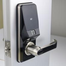 Elektronische Fingerprint Türschloss Digitale Smart türschloss entriegeln durch Fingerprint, Code, Karte, und Mechanische schlüssel mit 2 karten